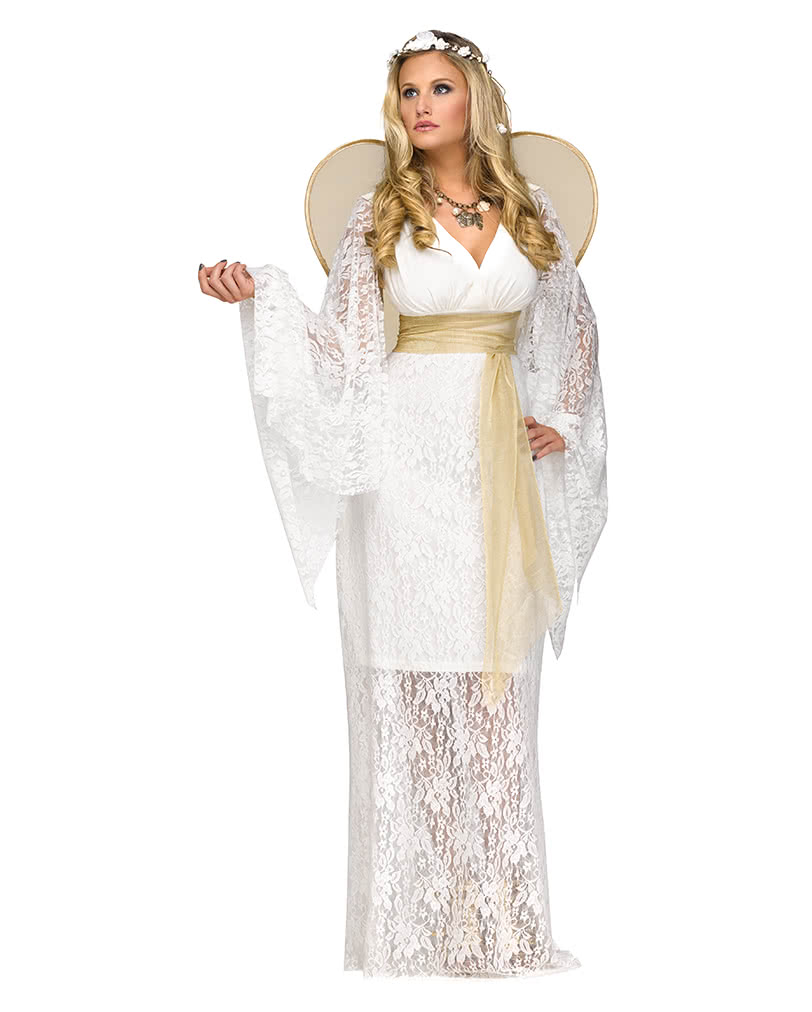 Angel Costume With Wings White Christmas Costume Horror Shop Com