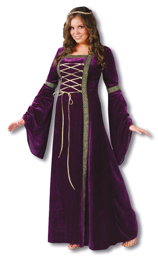 0be084581d44a Damsel Costume Purple Plus Size -Mittelalter Costume Medieval Dress ...