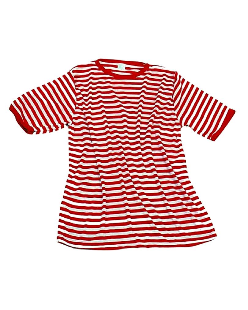 Striped shirt red-white fr Clownkostme   horror-shop.com