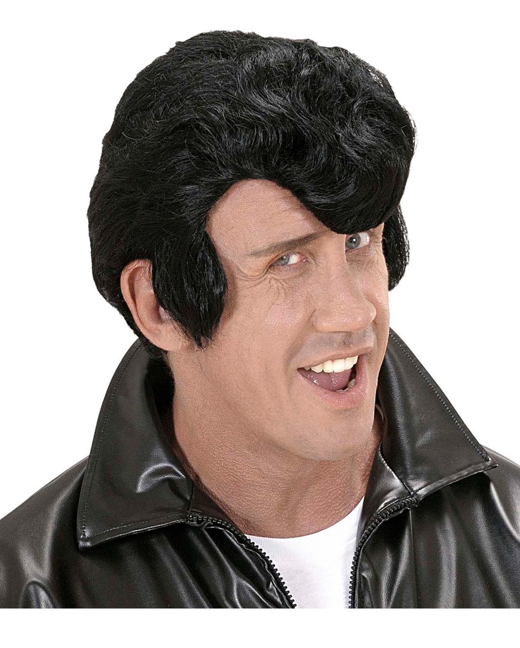 Rockabilly Perücke Schmalzlockenperücke Elvis Perücke Zweithaar