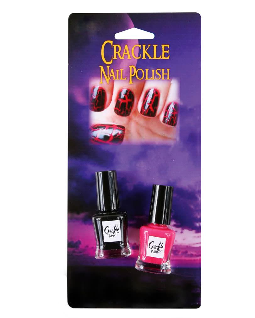 Künstlerisch Nageldesign Rot Foto Von Crackle Nagellack Set Schwarz Und   Ausgefallenes