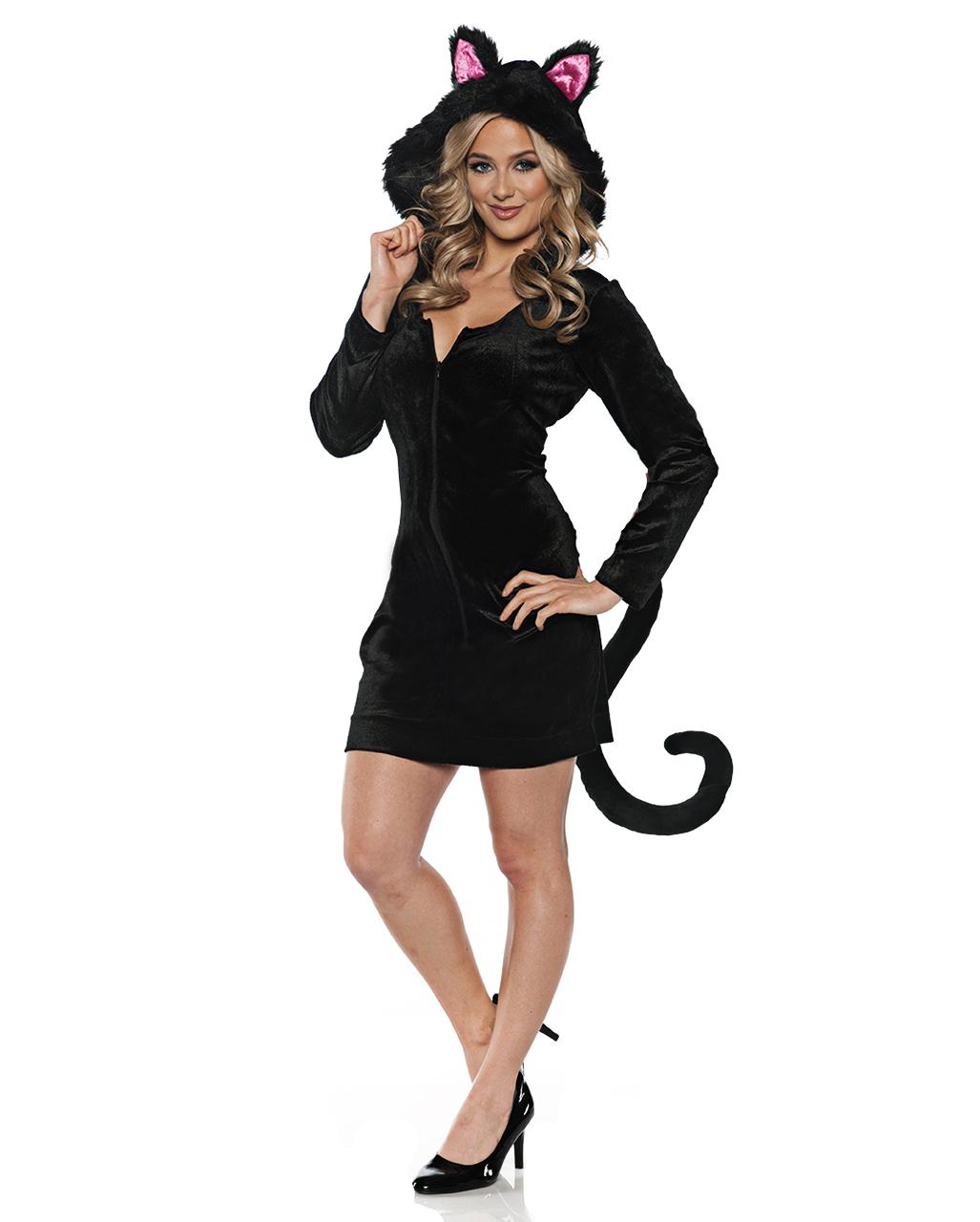 Schwarze Katze Kostum Kleid Fur Fasching Horror Shop Com