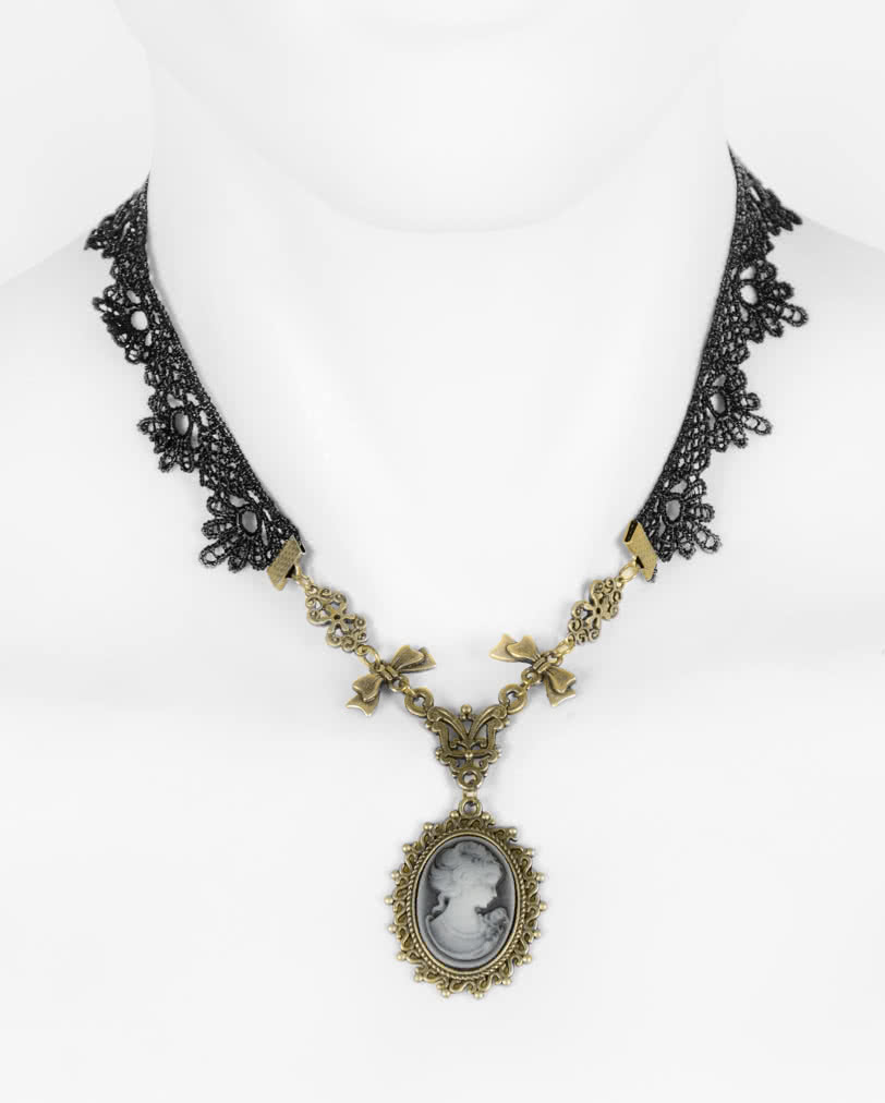 Victorian necklace with cameo pendant baroque gothic necklace victorian necklace with cameo pendant baroque gothic necklace horror shop aloadofball Choice Image