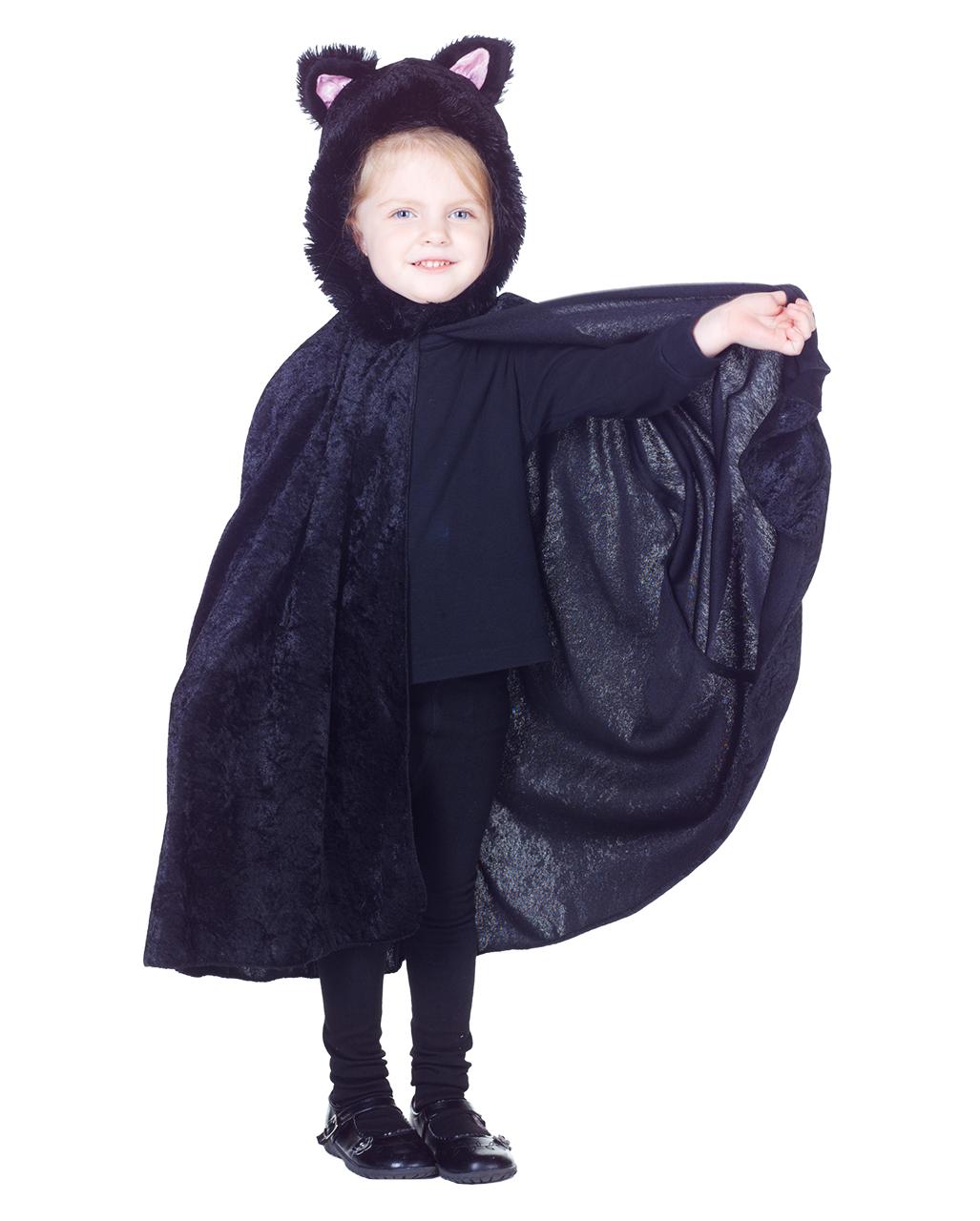 Kinder Umhang Schwarze Katze Halloween Umhang Horror Shopcom
