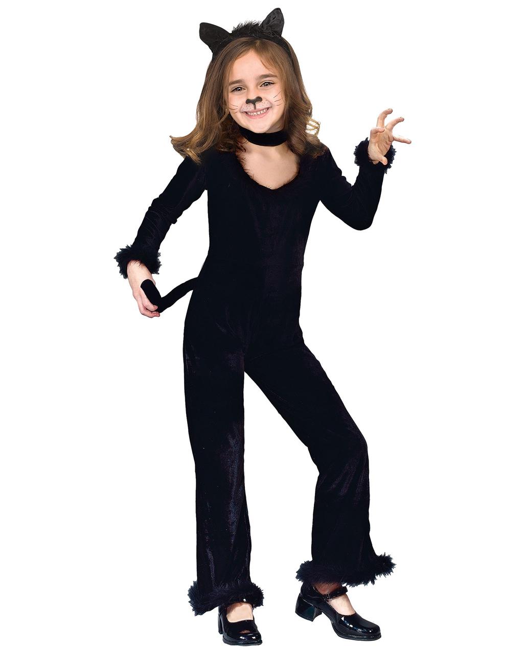 Schwarze Katze Kinderkostum Fur Halloween Horror Shop Com