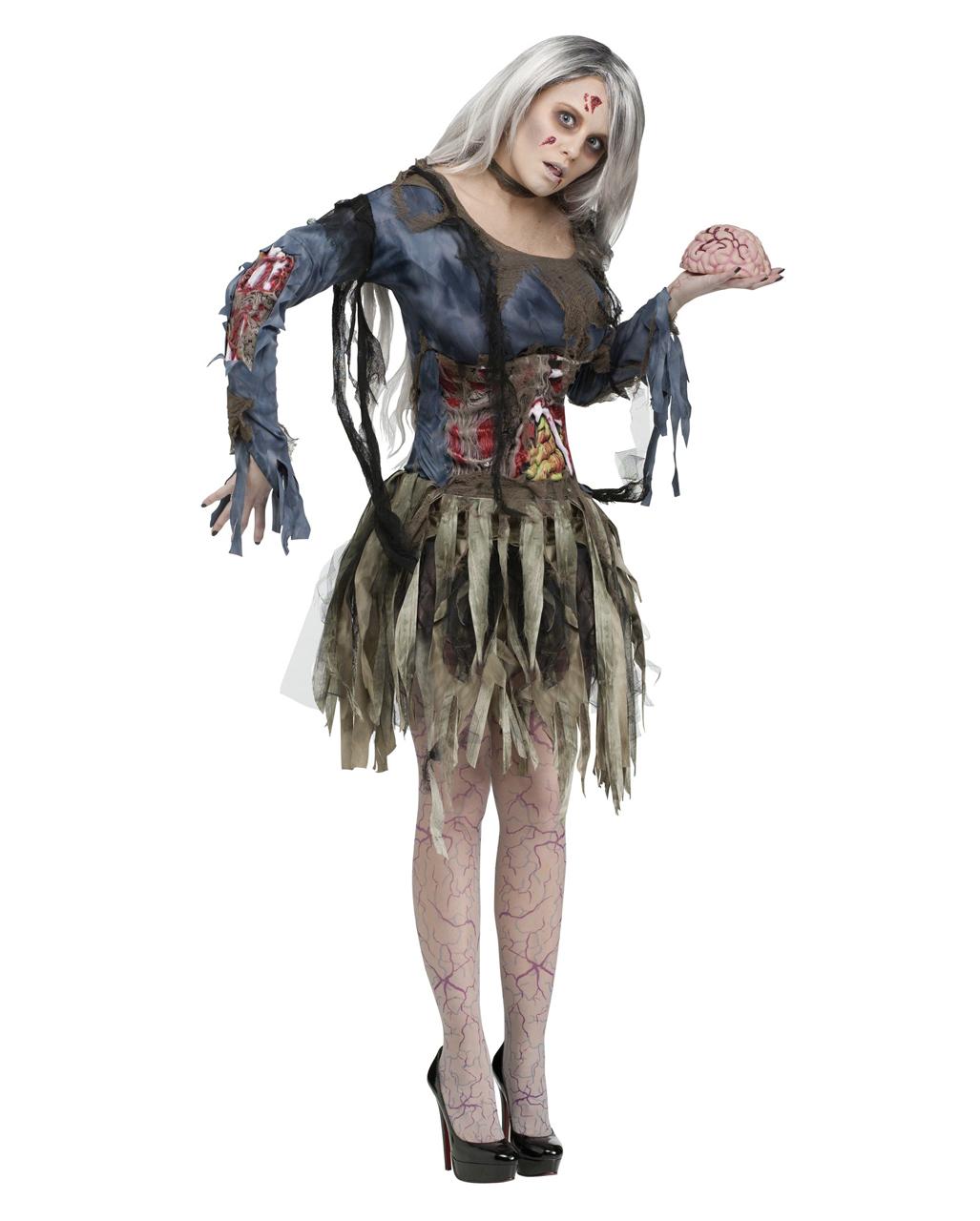 Sexy 3d Zombiekostüm Für Frauen Zombie Kostüm Mit 3d Look Horror