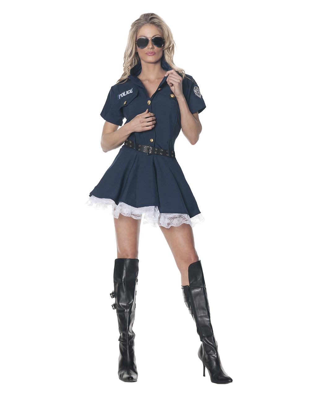 Sexy Gefangniswarterin Kostum Gr Xl Sexy Polizei Kostum Fur