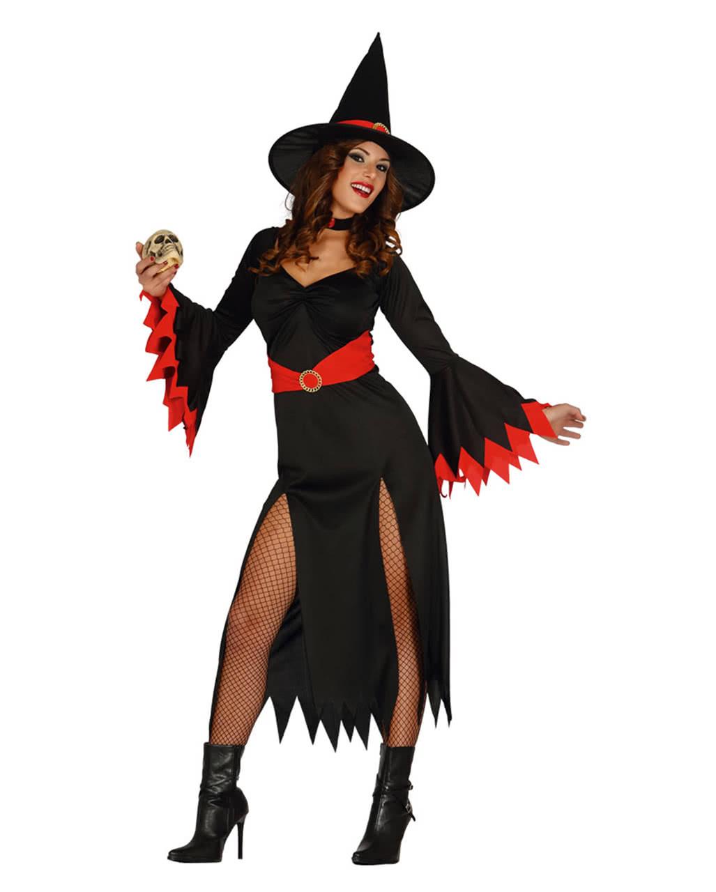 Sexy Witch Witch Costume Black/red  sc 1 st  Horror-Shop & Sexy Witch Witch Costume Black/red for Halloween u0026 Walpurgis Night ...