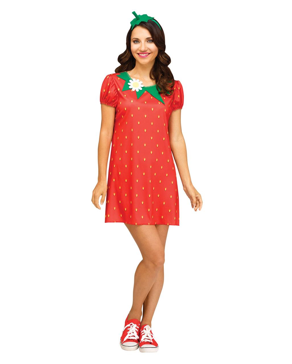 Sexy Erdbeere Kostum Susse Obst Verkleidung Horror Shop Com