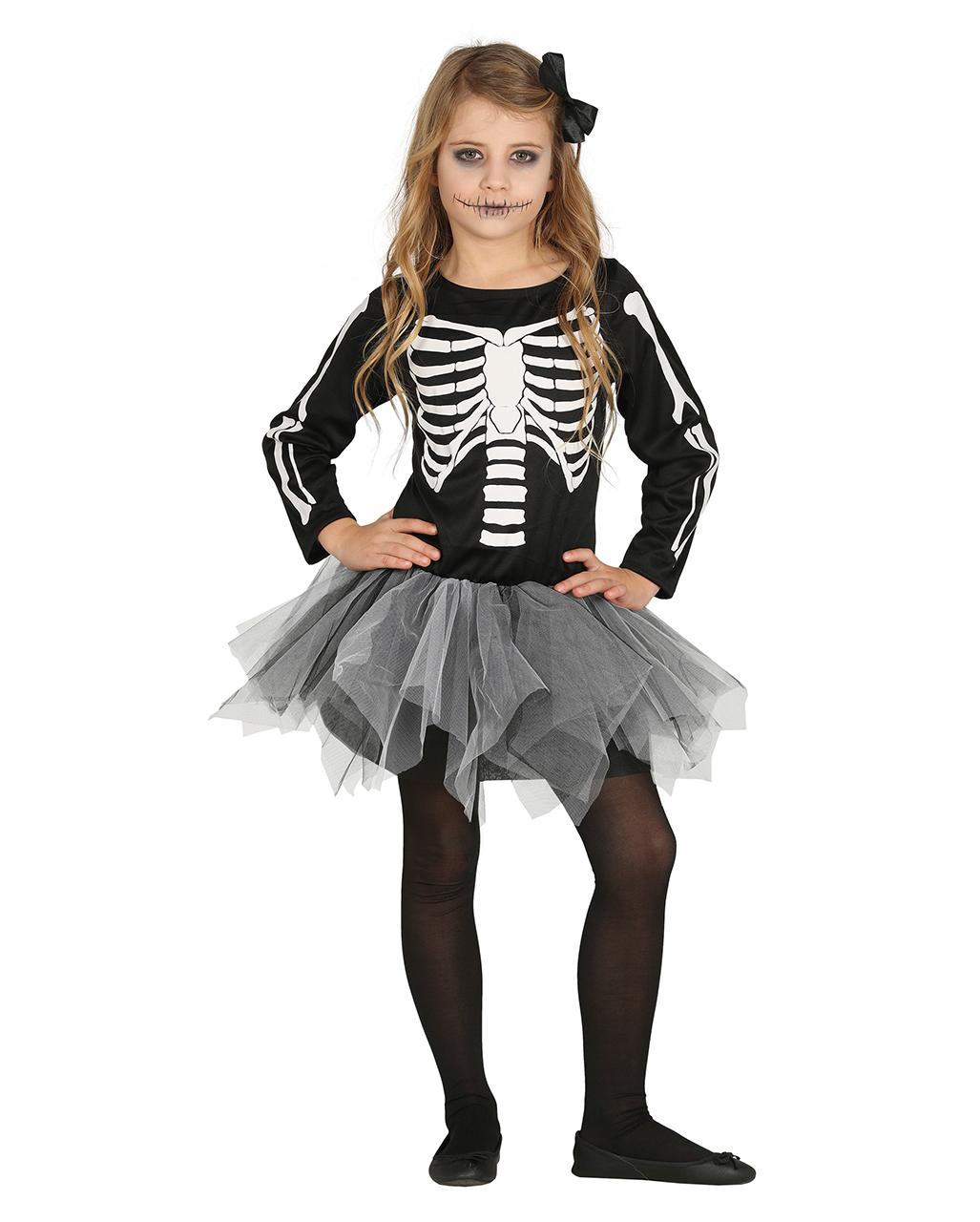 cc03f74365890 Skeleton Ballerina With Tutu Child Costume purchase | horror-shop.com