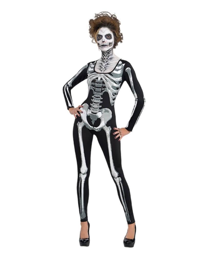 Skelett Catsuit für Damen | Sexy Körperanzug mit Skelettmotiv ...