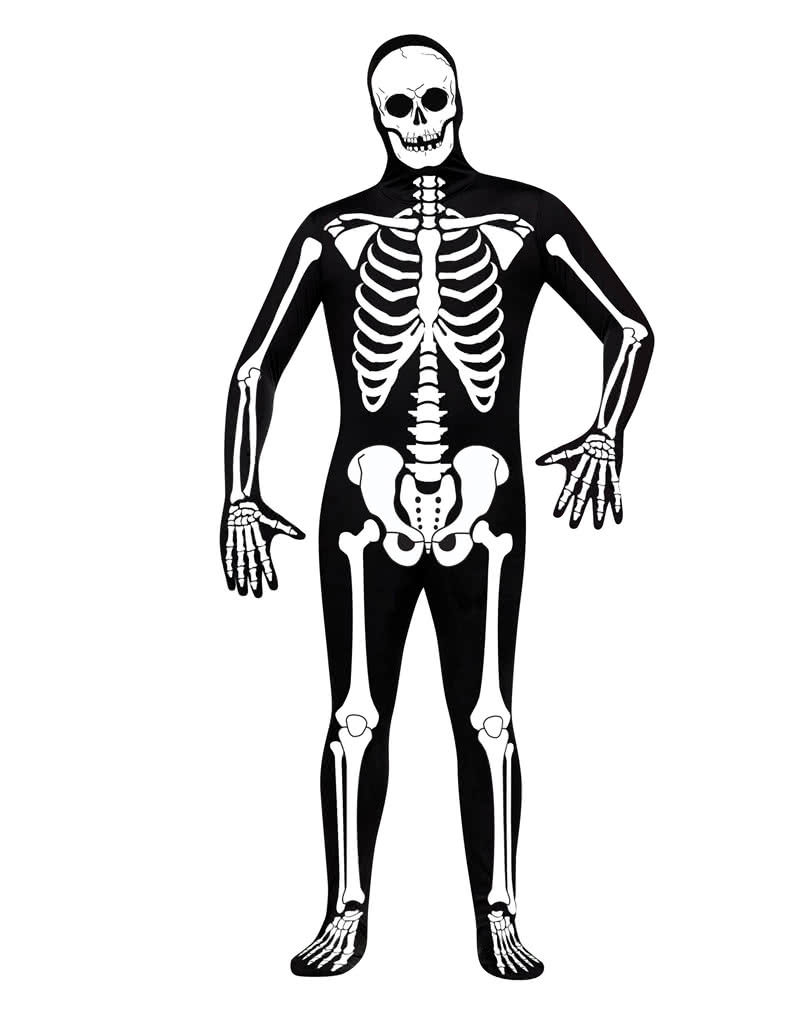 Skeleton Skin Suit As A Skeleton Full Body Suit For Halloween