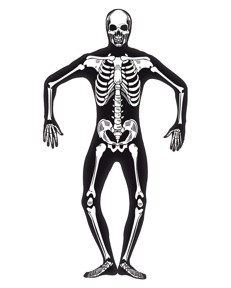 Skeleton skinsuit Glow in the Dark XL | Body suit with skeleton ...