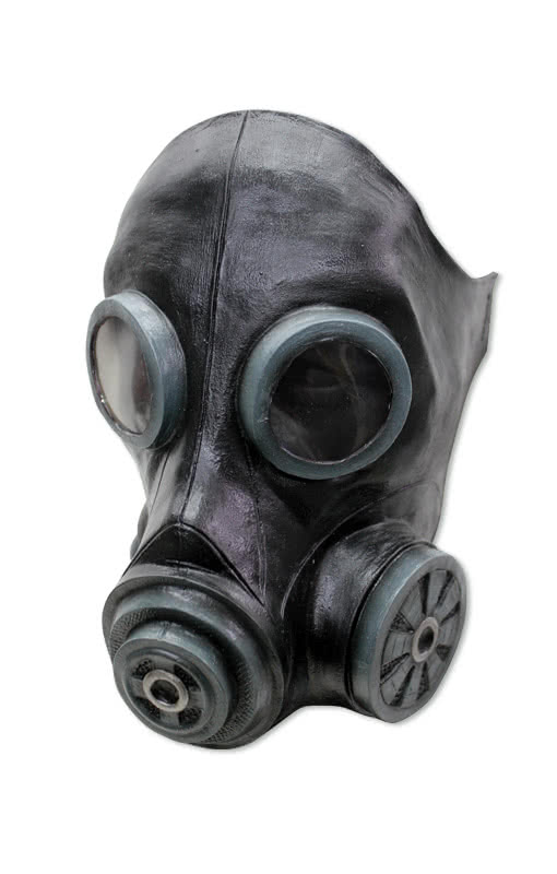 Flue gas mask black cool latex gas mask for the zombie walk flue gas mask black voltagebd Image collections
