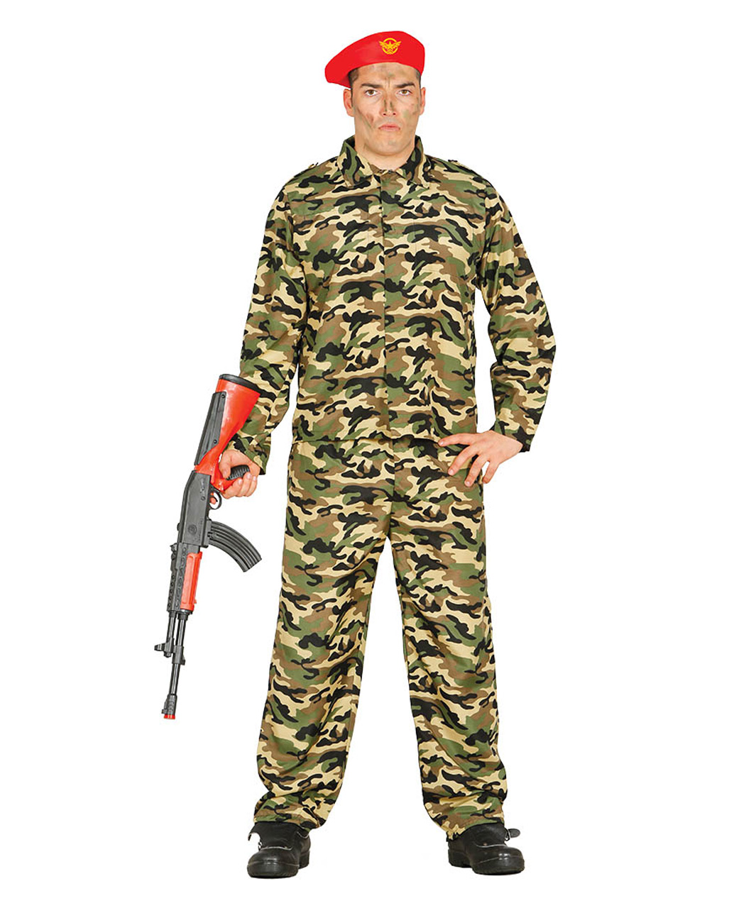 soldier costume camouflage with cap to order