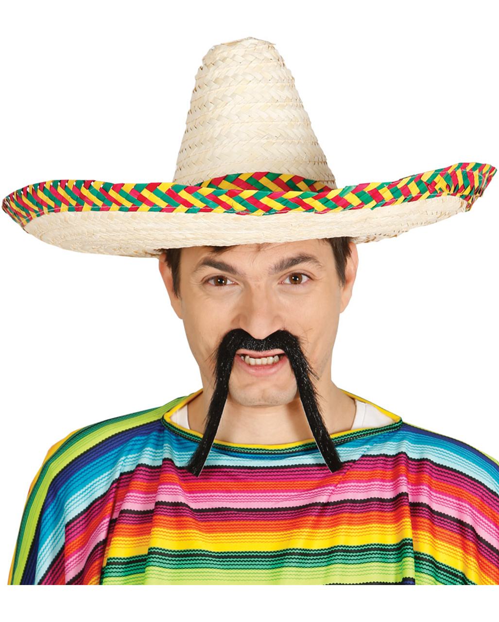 sombrero with colorful border mexican hat