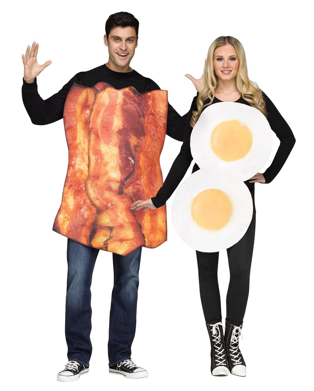 Fried Egg And Bacon Partner Costume ...  sc 1 st  Horror-Shop.com & Fried Egg And Bacon Partner Costume For carnival | horror-shop.com