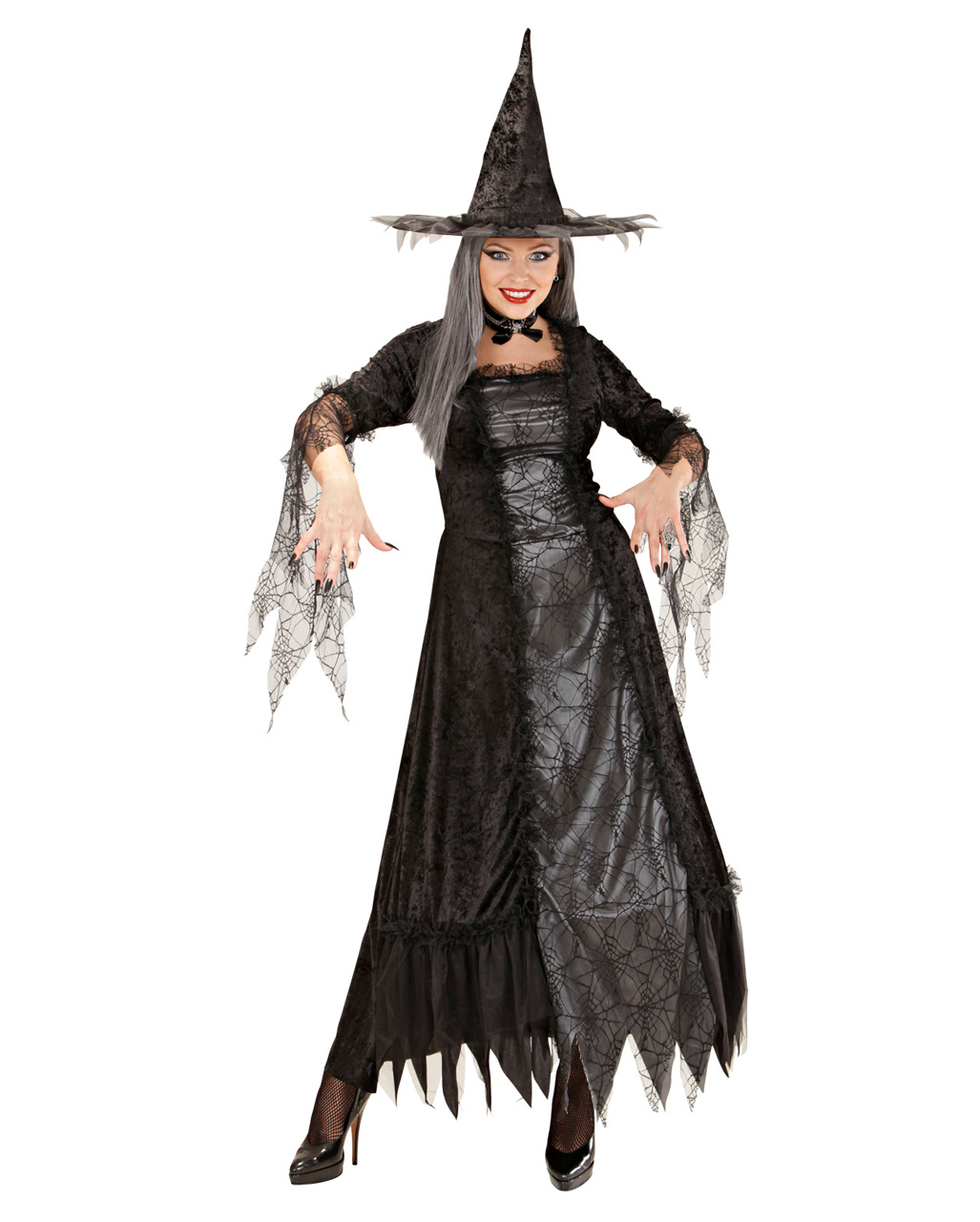 Spider Lady witch dress Deluxe M | Sorcerer Spider Woman Costume ...
