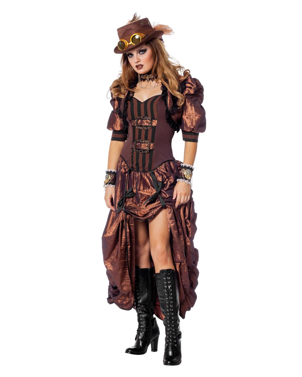 steampunk damen kostum deluxe