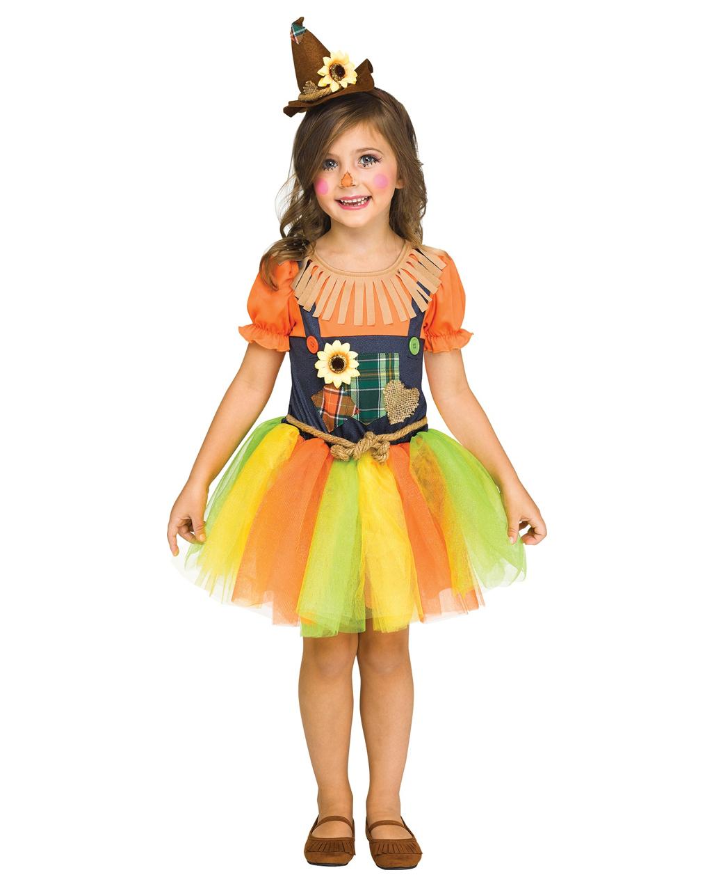 sweet scarecrow girl costume for halloween | horror-shop