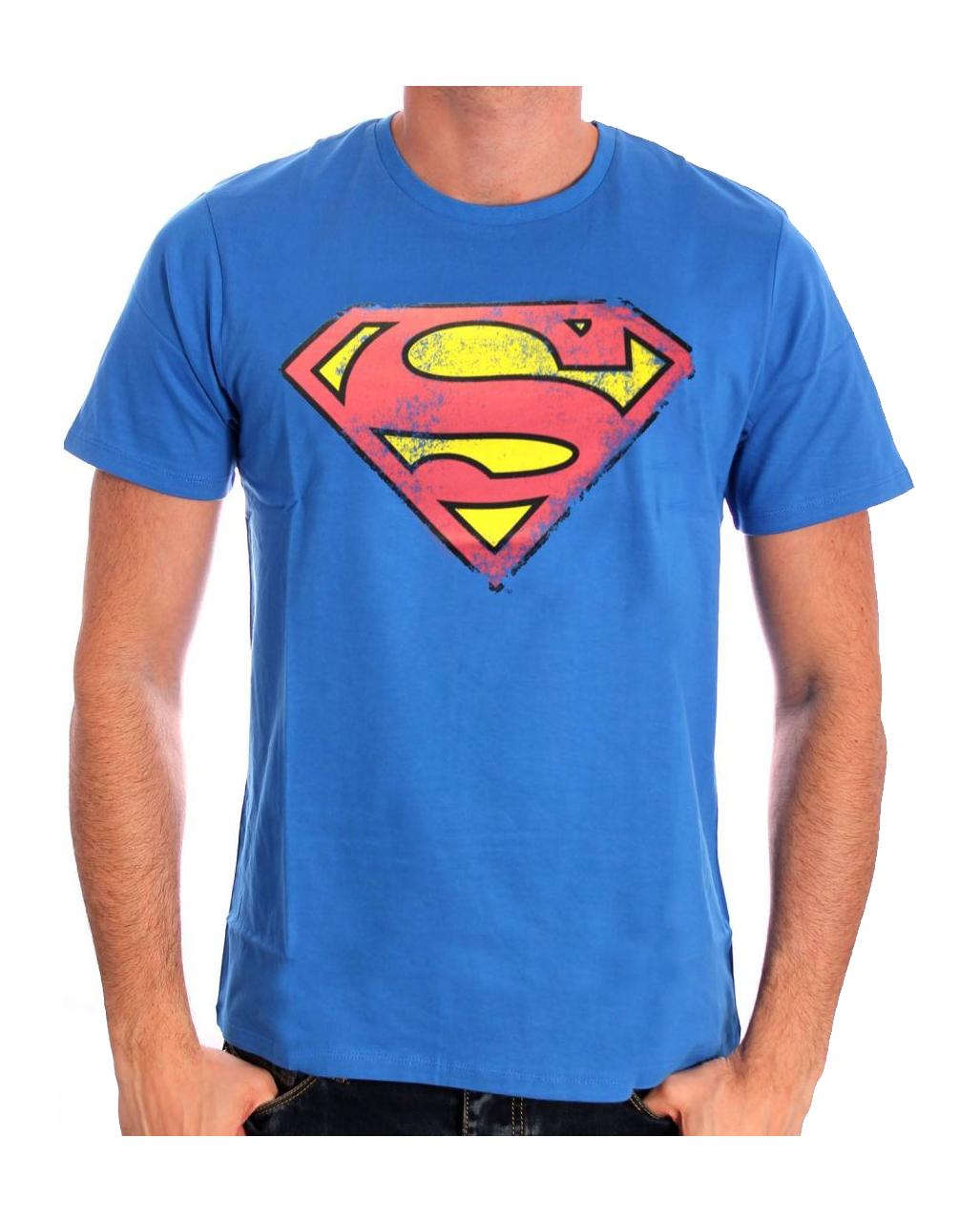 Superman Retro Logo T Shirt Superhero T Shirt Retro Look Horror