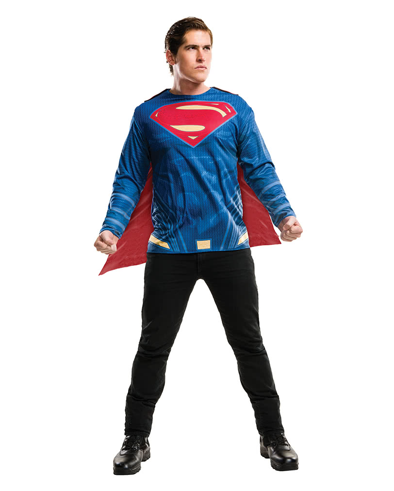 Superman Shirt With Cape For Adults  a568f9b040877