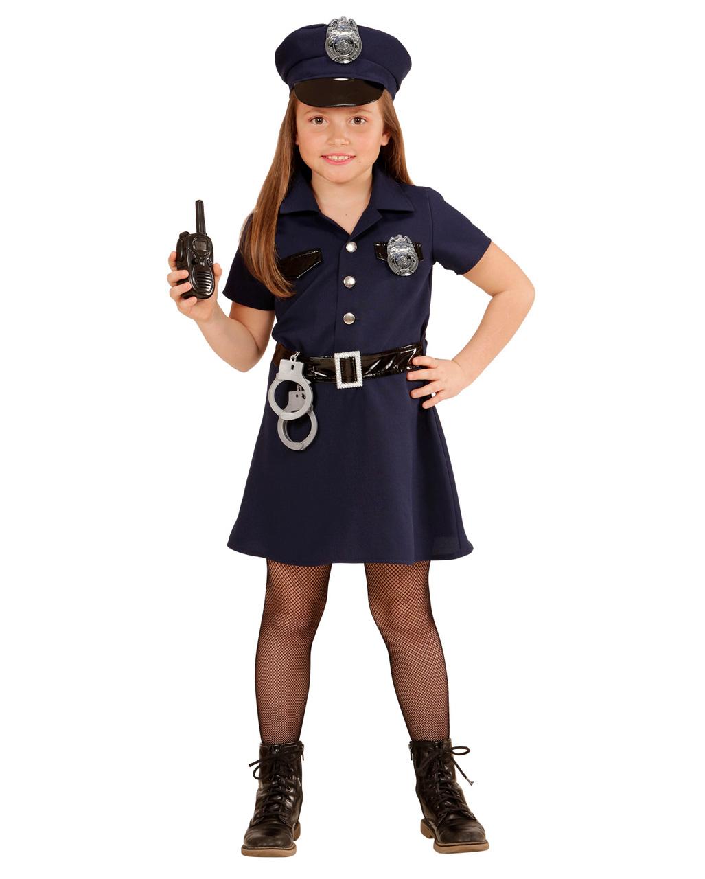 Us Polizistin Kinderkostum Fur Madchen Horror Shop Com