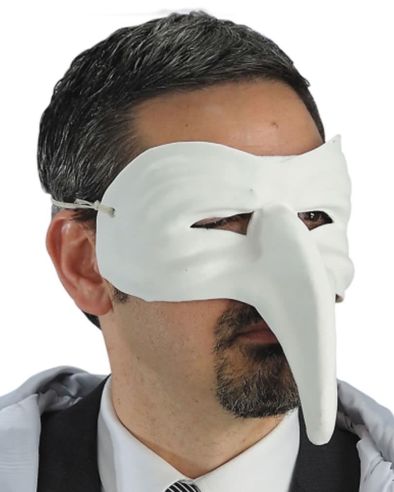 Venezianische Schnabelmaske weiß | Eine klassische unverzierte Maske ...