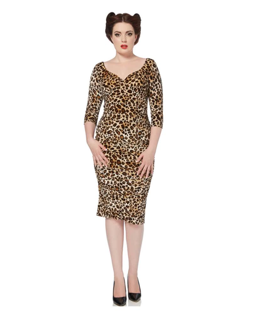 Voodoo Vixen Leopard Samtkleit | Pinup dress | leopard dress ...