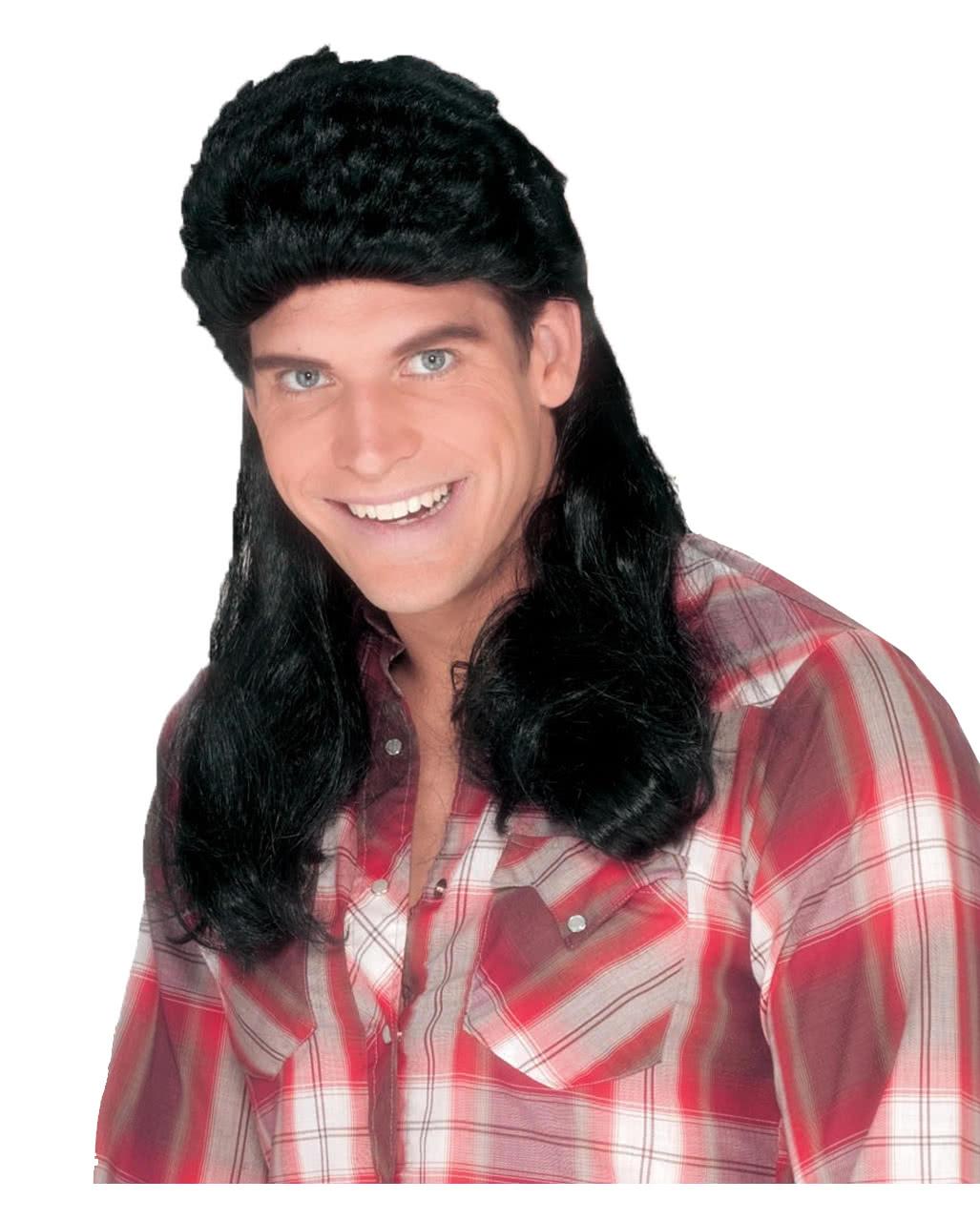 Mullet Men Wig Black Proletten Hairstyle Mullet Wig Horror Shopcom