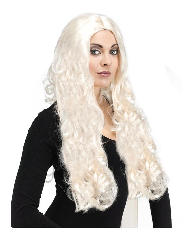 Platinum Blonde wig with curls longhair  b9aeb7a3ff0f