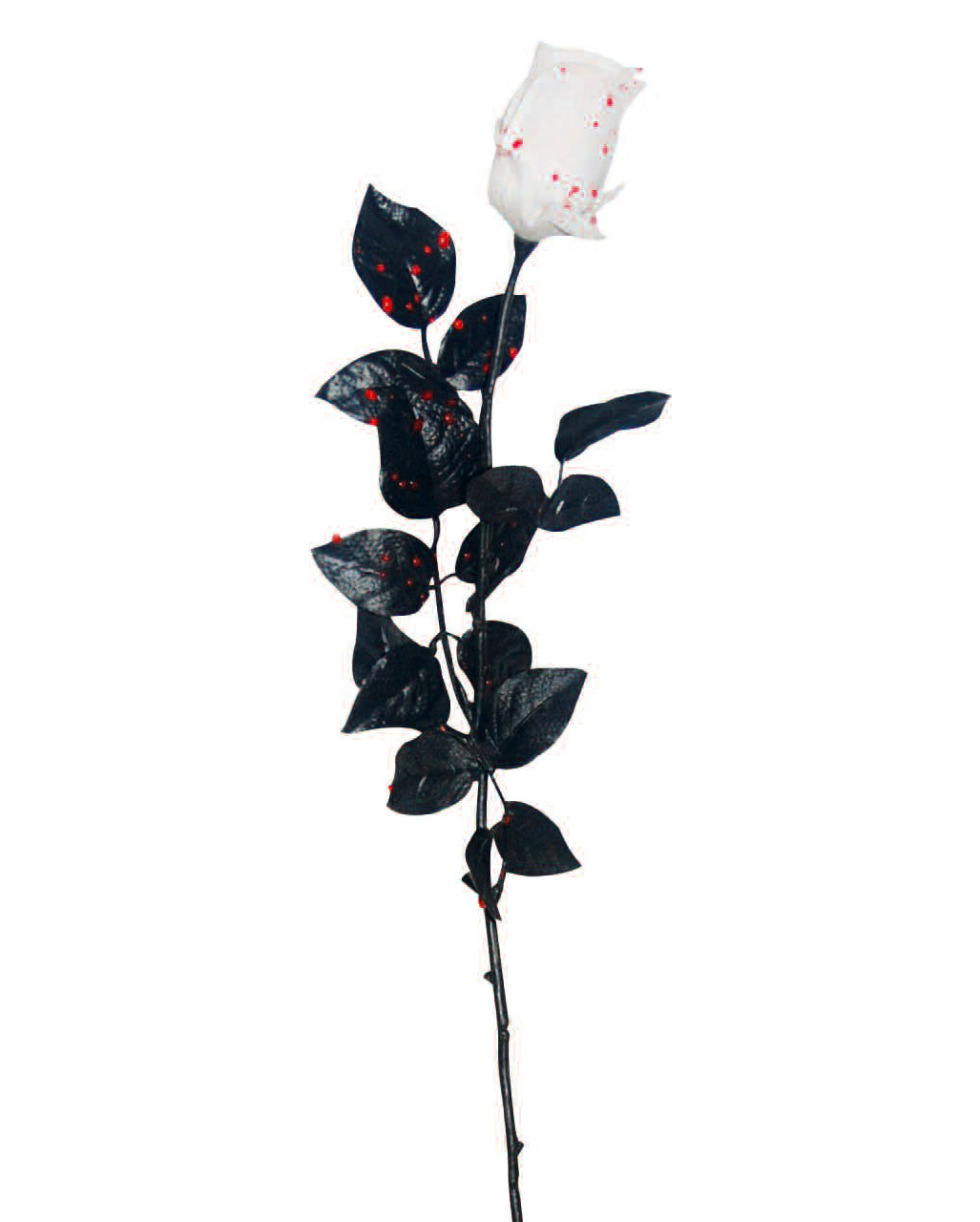 White Rose With Blood Drops For Gothic Party Decoration Horror