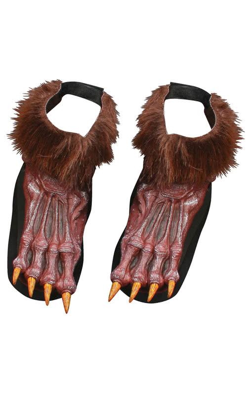 Werewolf Feet Brown | Wolfu0027s feet for the werewolf costume | horror-shop.com  sc 1 st  Horror-Shop.com & Werewolf Feet Brown | Wolfu0027s feet for the werewolf costume | horror ...