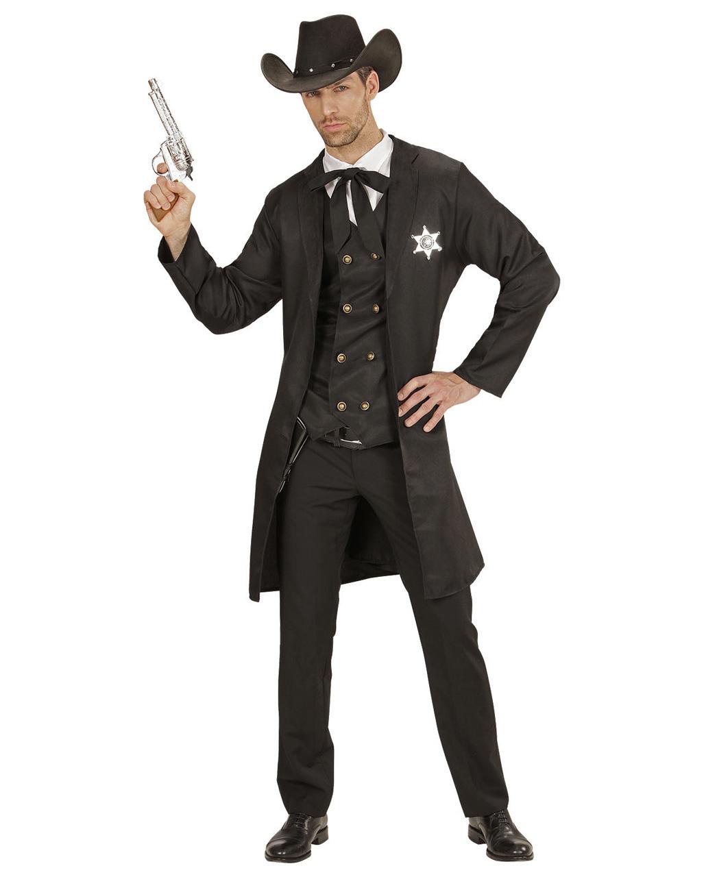 698881f4e1d Western Sheriff Costume 4 Pieces Herrenkostüm