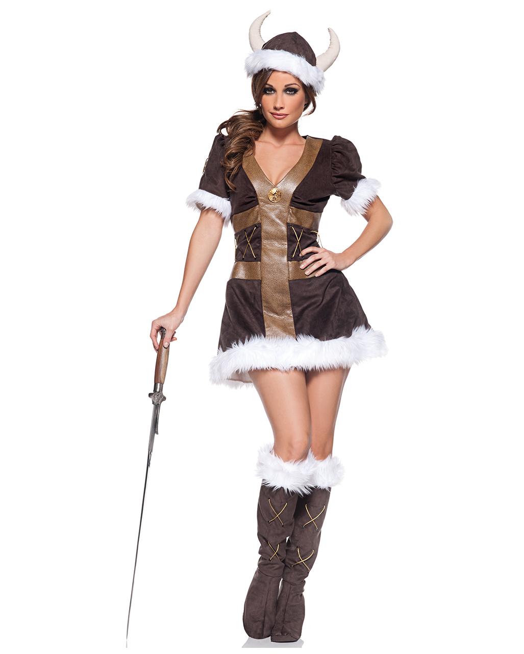 Wikinger Prinzessin Kostum Fur Fasching Horror Shop Com