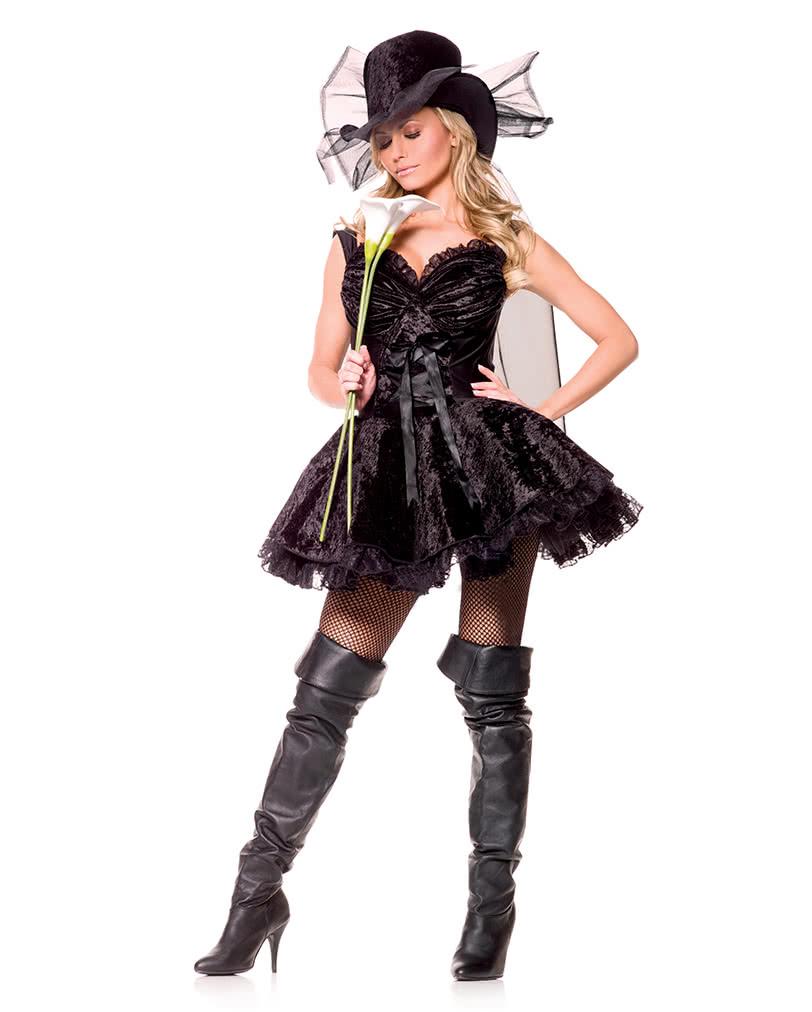 Lustige Witwe Premium Kostum L Sexy Frauenkostum Witwen Kostum
