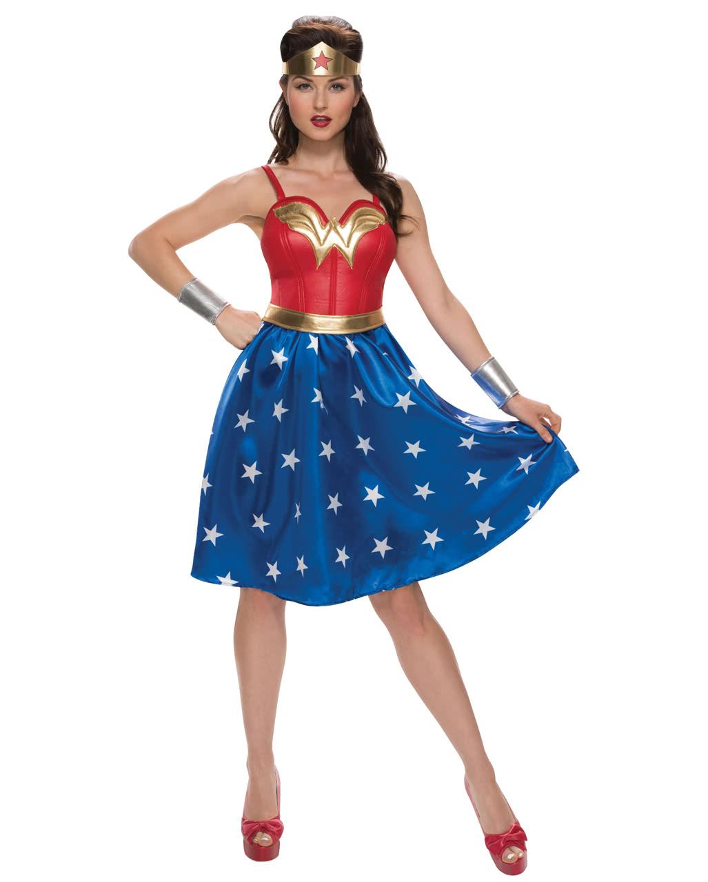 Wonder Woman Kostum Kleid 4 Tlg Dc Comic Horror Shop Com