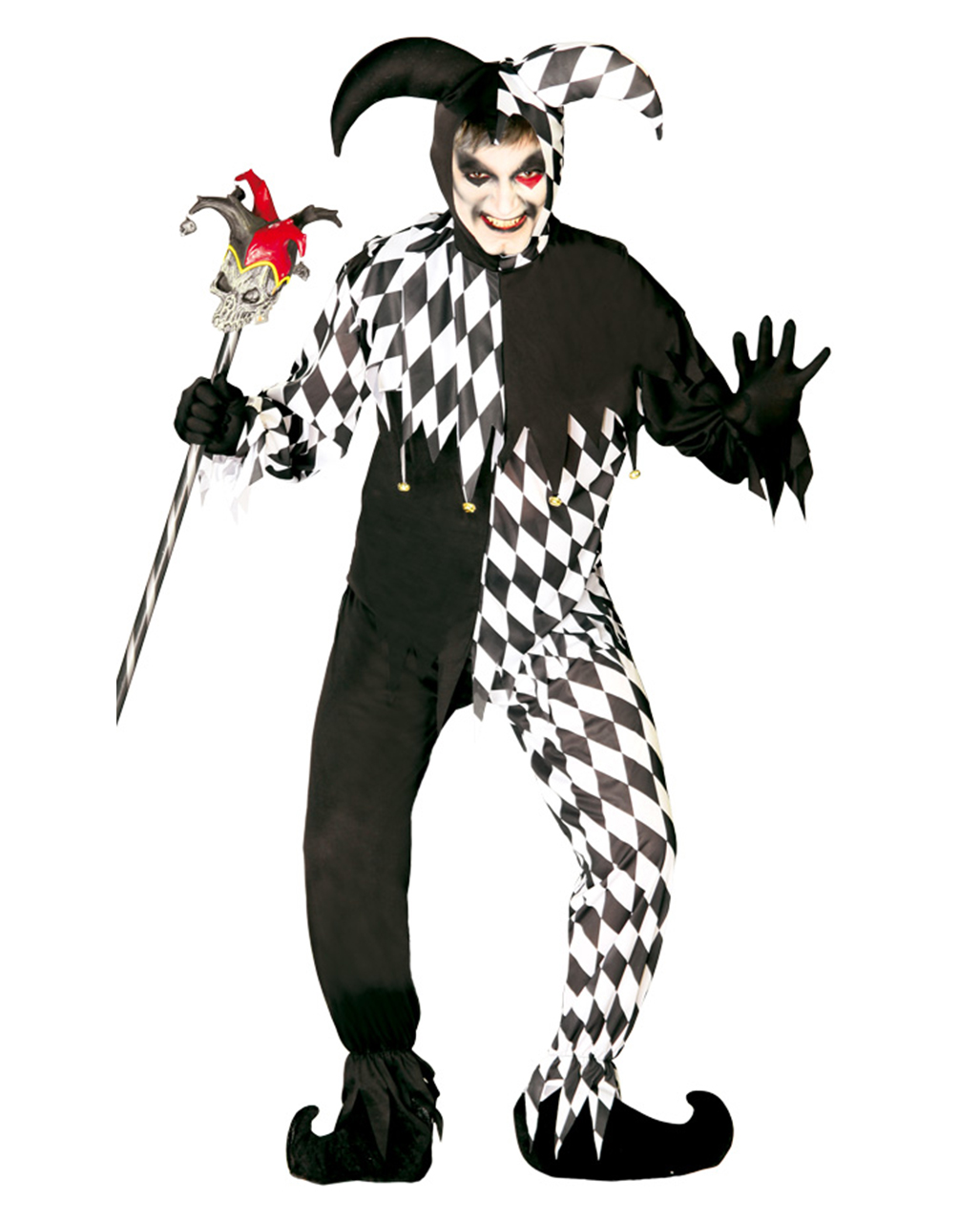 Zombie Harlequin Costume Zombie Harlequin Costume  sc 1 st  Horror-Shop.com & Zombie Harlequin Costume | As an evil court fool costume | horror ...