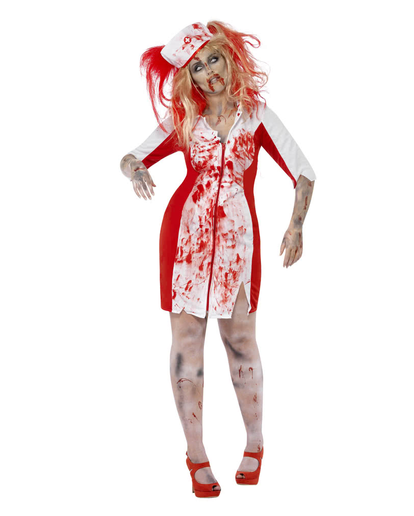 9c78e33779027 Zombie Nurse Costume Plus Size | Horror nurse outfit | horror-shop.com