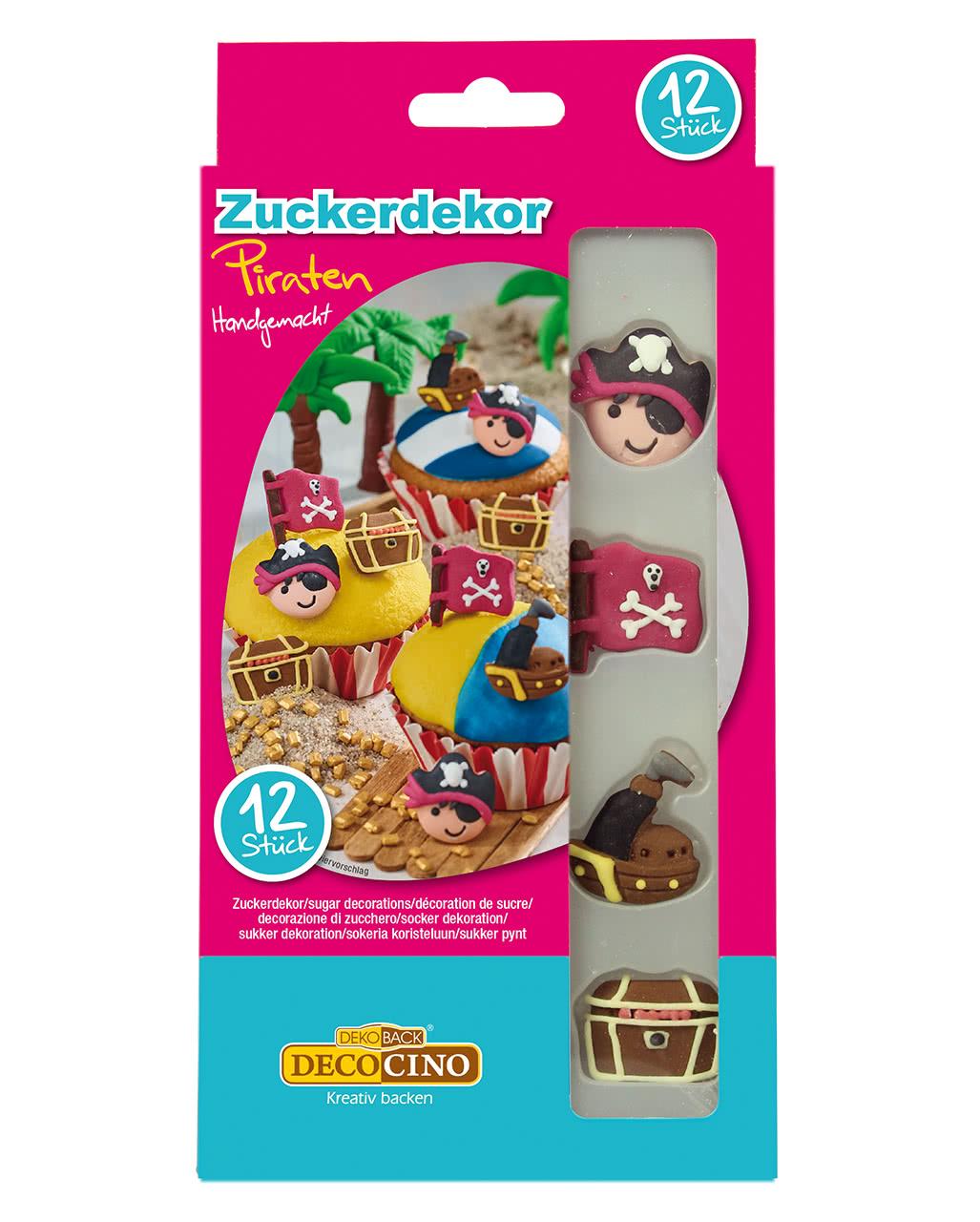 Zuckerdekor Piraten 12 St. | Halloween Süßwaren | Horror-Shop.com