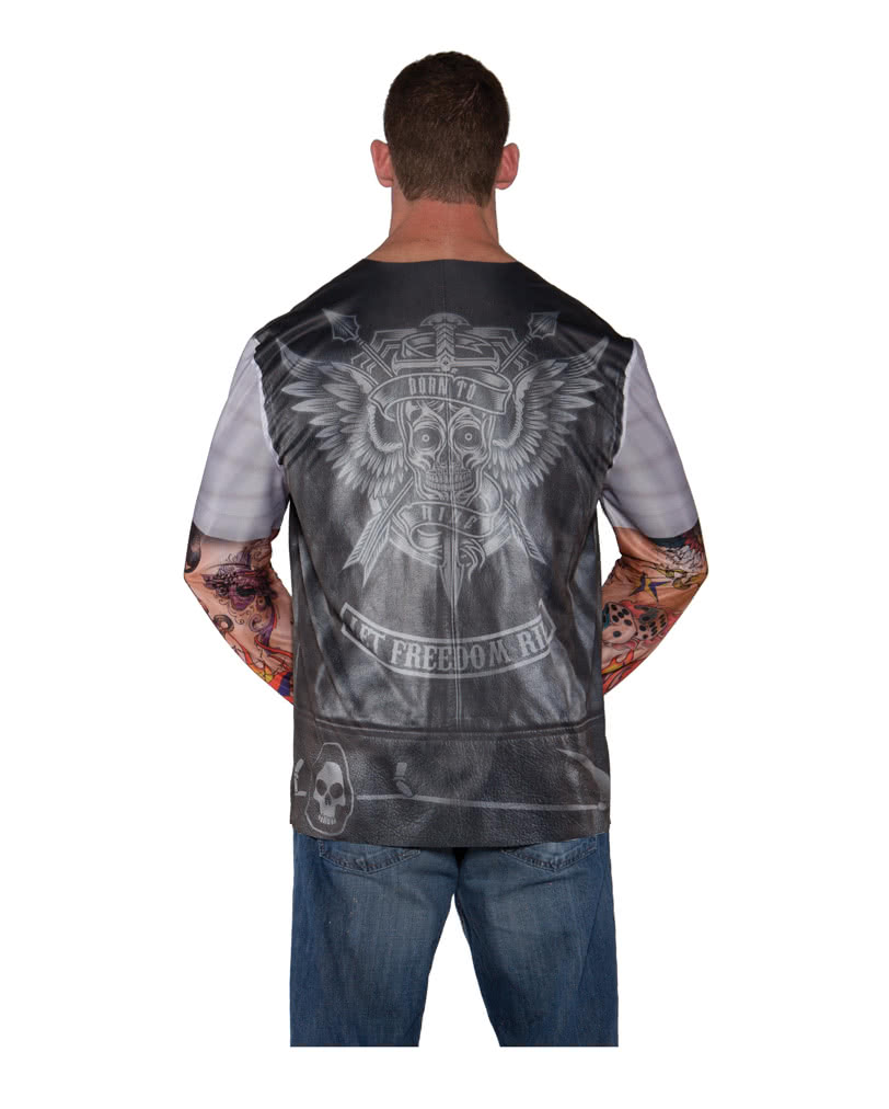 88e1f2e3 Biker shirt with photo print | Realistic Biker T-Shirt | horror-shop.com