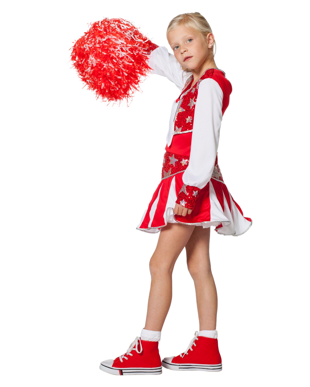 Cheerleader Children Costume Red For Carnival Guard Horror Shop Com