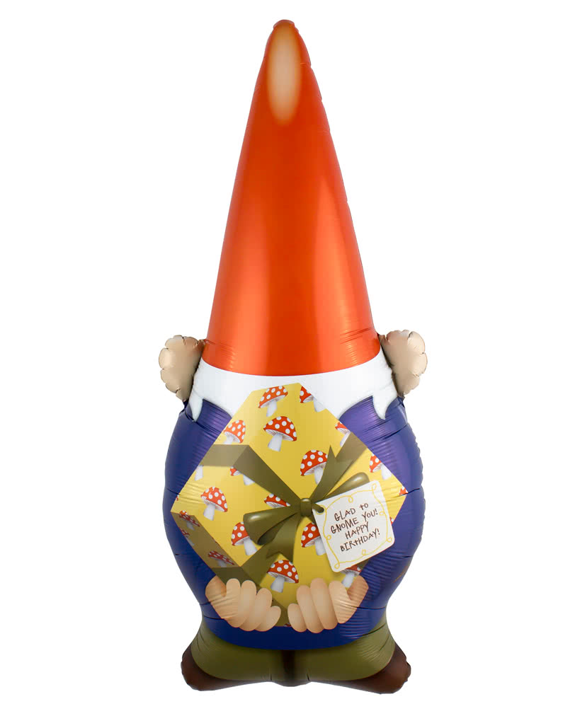 Foil Balloon U0026quot Happy Birthday U0026quot Garden Gnome Helium Part 69