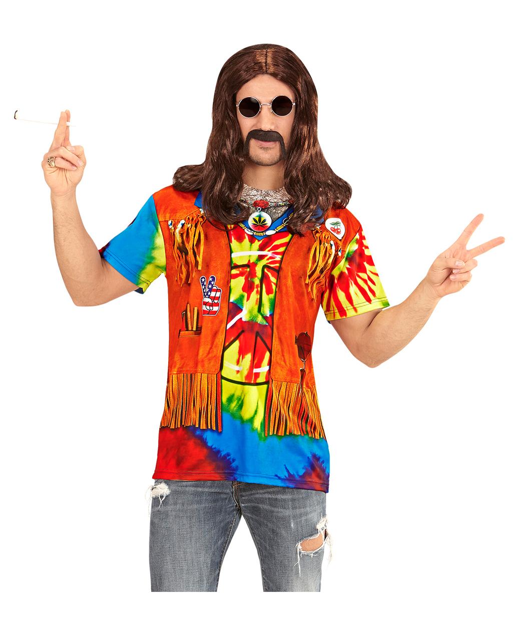 84e9f1248f2 Hippie Man T-shirt Hippie Man T-shirt ... The march on Pentagon. Flower  Power ...