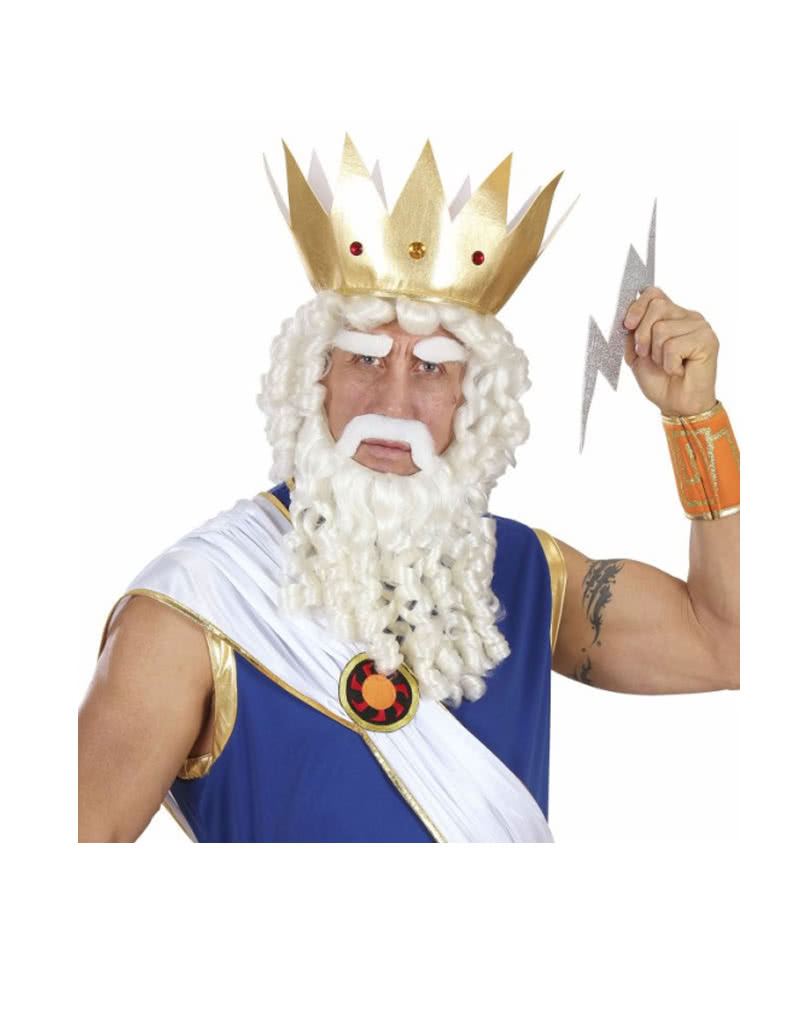 Zeus wigs set neptune percke and beard horror shop zeus wigs set zeus wigs set solutioingenieria Image collections