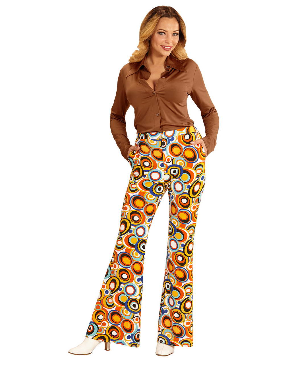 956e101eefa Groovy 70`s Women s Trousers Bubbles for theme parties