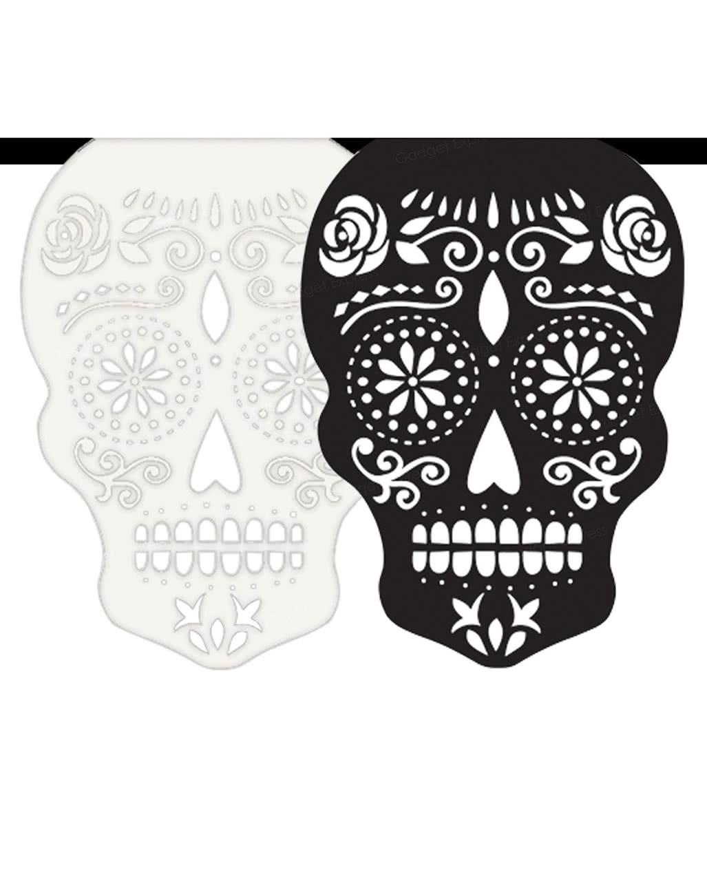 Día De Los Muertos Garland - Skull to buy   horror-shop.com