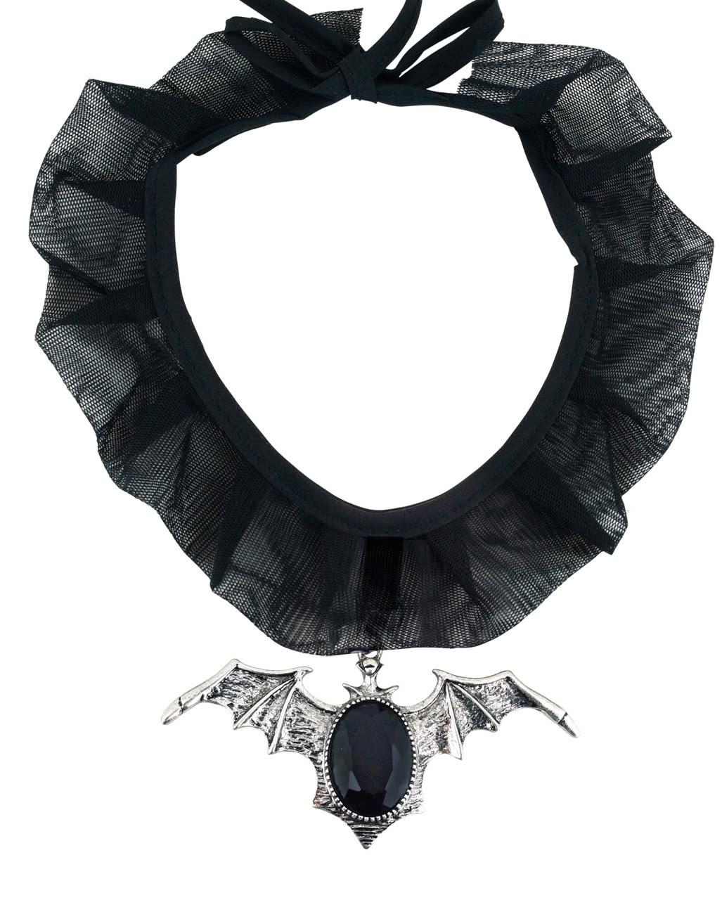 Gothic Fledermaus Halsband für Halloween | Horror-Shop.com