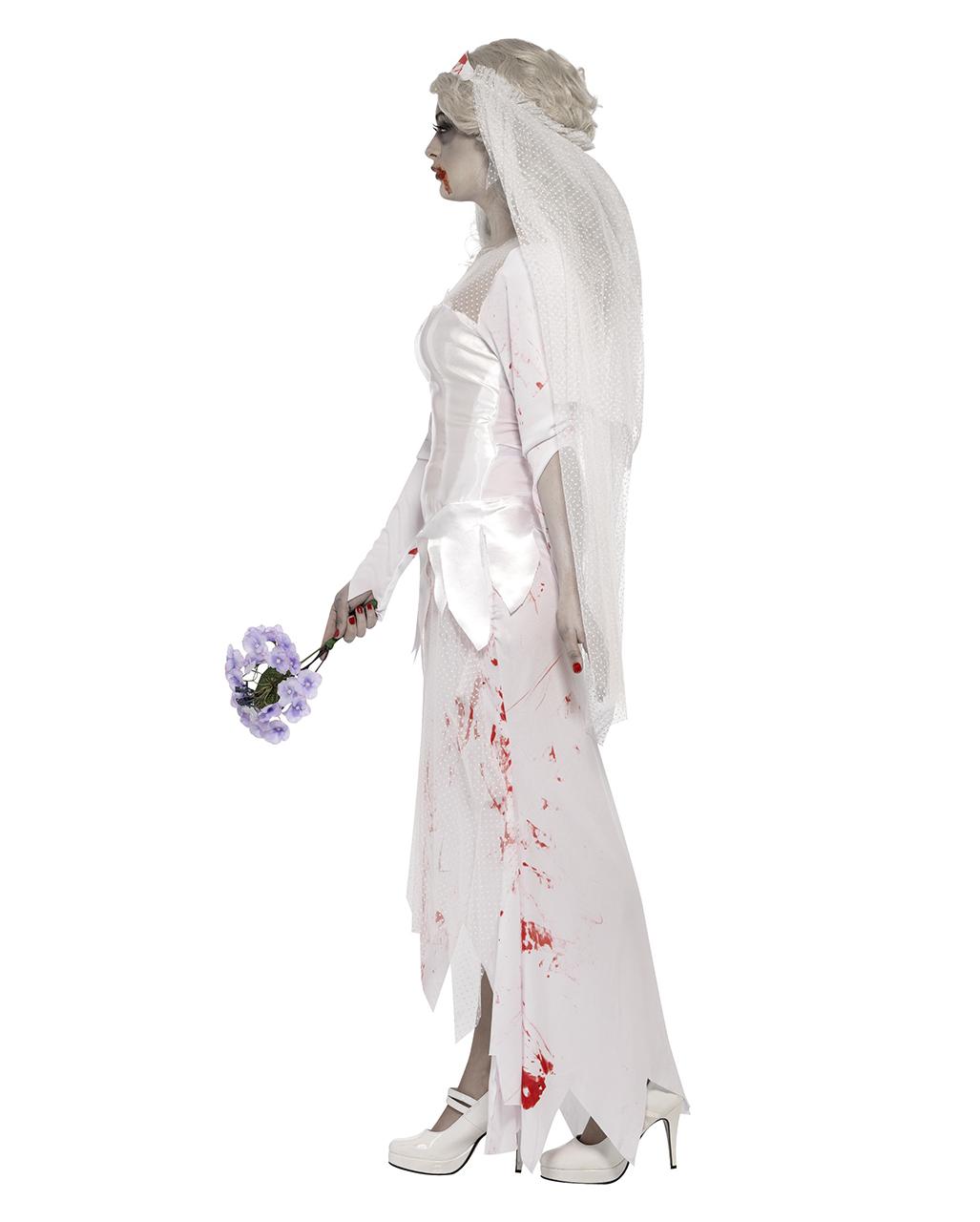Zombiebraut Kostüm | Blutverschmiertes Hochzeitskleid | Horror-Shop.com