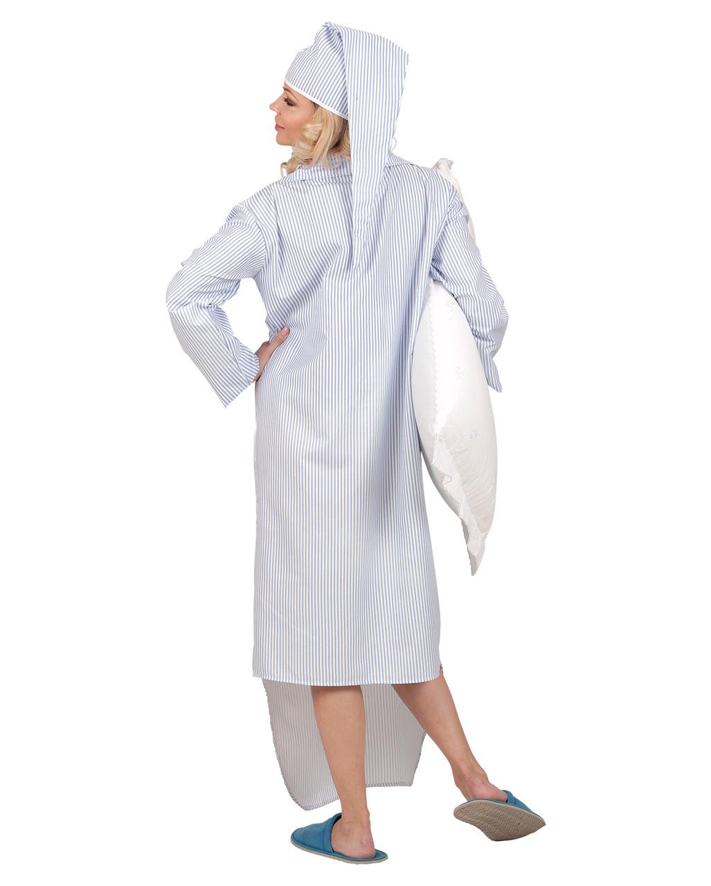 Kostum Nachthemd Mit Mutze Fur Karneval Horror Shop Com